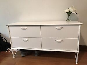 White 4 drawer chest of drawers for sale! Hawthorn Boroondara Area Preview