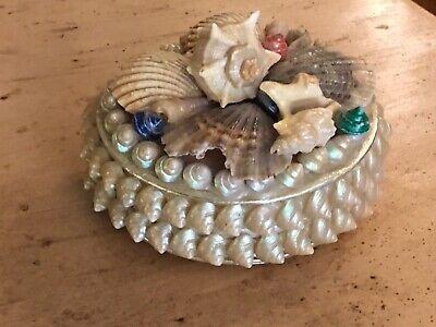 Cowrie Shell Pincushion Vintage 1940s Souvenir