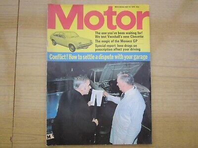 May 10th 1975, MOTOR, Vauxhall Chevette L, Ford Cortina 2000E, Ronnie Peterson., usado comprar usado  Enviando para Brazil