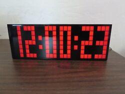 Chihai Kosda 9.6 LED alarm clock 9 1/4 long red functions NEW NIB