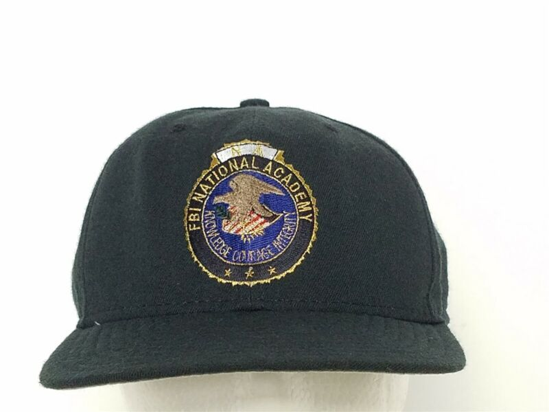 FBI National Academy Knowledge Courage Integrity Blue Ball Cap Hat Snapback M/L