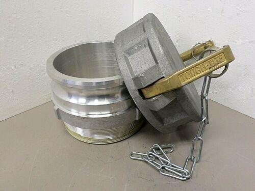"Tough-TITE 6"" Industrial Cam Dust Cap with 6"" Male Aluminum Camlok Coupling"