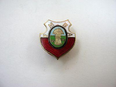 Rare Vintage Collectible Pin  Fmba Haystack  Screwback Farmers Merchant Bank