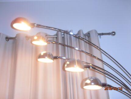 5 light chrome floor lamp