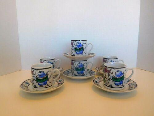 CHEKOSLOVAKIAN Fine Porcelain 12 Pcs Cup and Saucer Set