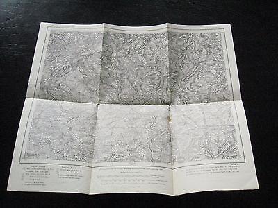 alte Landkarte Karte des Deutschen Reiches Nr.570 Saarbrücken von 1910