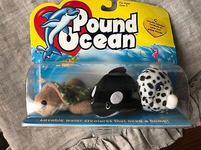 Galoob Pound POUND OCEAN PUFFERFISH, SEA TURTLE, ORCA New in Box!! Pound Puppies