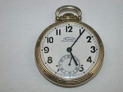 Hamilton 16 Size 23 Jewel Model 950B Railroad Pocket Watch. 105R
