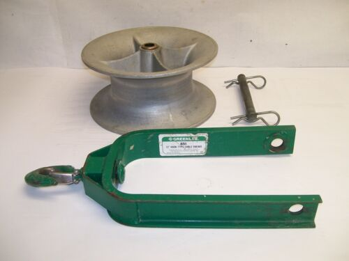 """Greenlee 651 12"""" Hook Type Cable Sheave 4000LB"""