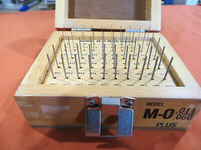 Meyer Model M-o .011-.060 Plus Plug Pin Gages Complete W Box Machinist Tool 1684