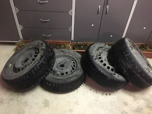 195/65R/15 snow tires on VW 5x112 steel rims