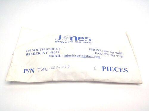 "Pack of 6 Jones Spring Co TML-0625-0070 1/2"" x 5/8"" Inch Springs"