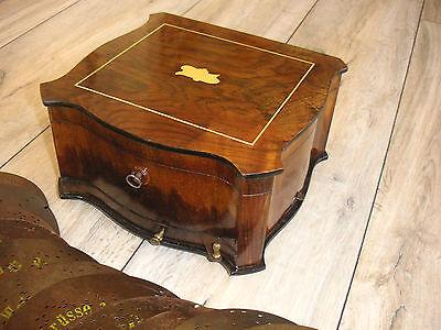 """Polyphon mit 11 Blechplatten 20,7cm Spieluhr antique music box 11 discs 8 1/4"""""""