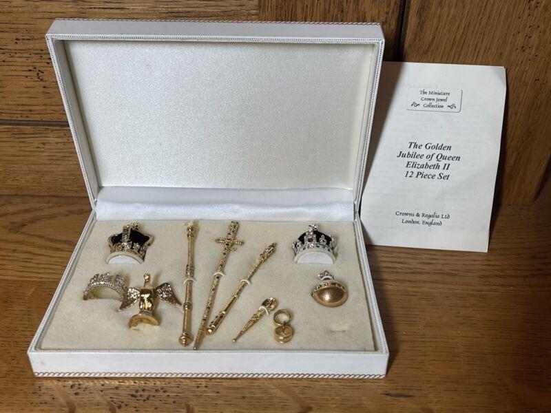 Miniature Jewel Crown Collection Queen Elizabeth II Golden Jubilee