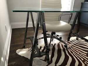Design Within Reach drafting table and Designer chair