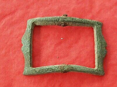 Lovely rare design 17 hundreds bronze buckle. Please read description. L95m
