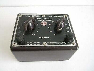 Cornell-dubilier Decade Capacitor Box Model Cdb5