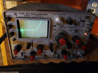 Tektronix Type 453 2-channels 50 Mhz Oscilloscope With Faceplate Cover Brc3
