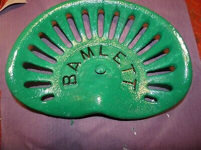Bamlett Vintage Iron Tractor Farm Implement Seat Nameplate Antique