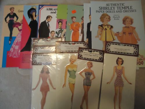Collection of 6 Tierney paper doll Books unused Kennedy Temple Garland and more