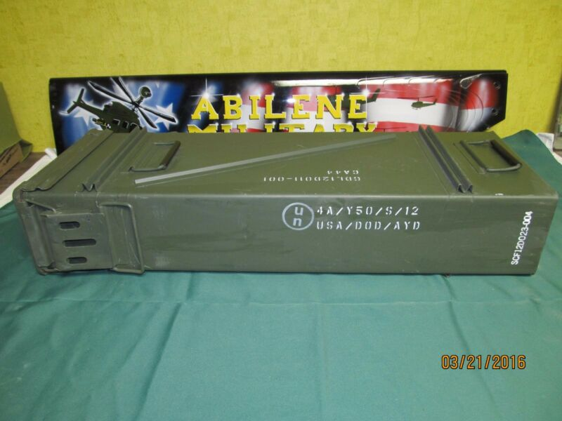 "120MM AMMO CAN LARGE 31.5""x 11.25""x 5.5"" TALL VERY GOOD AIRTIGHT STORAGE BOX"