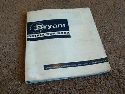 Bryant Vertical Centalign Internal Grinder Set-up Operation Instructions Manual