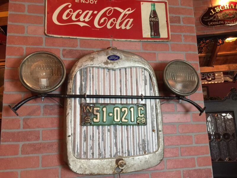 """Vintage FORD with WI Plates Retail Automotive  Wall Art Display """"Watch Video"""""""