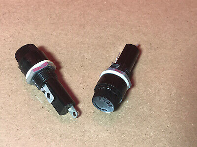 2x Mounted Screw Cap Fuse Holder 15a 250v Ac 6x30mm Made In Japan