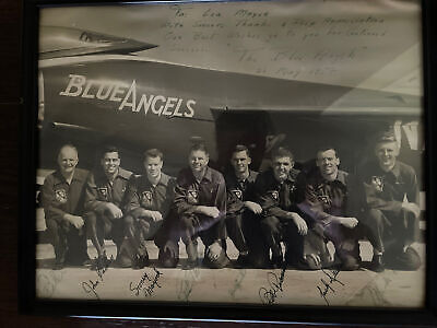 Blue Angels 1958 Signed 11X14 Photo Very Rare.