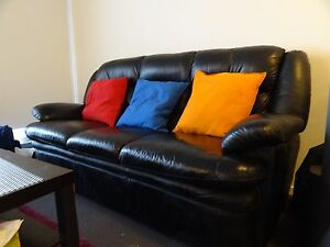 Used 3 Seater Leather Sofa and Recliner Clayton South Kingston Area Preview