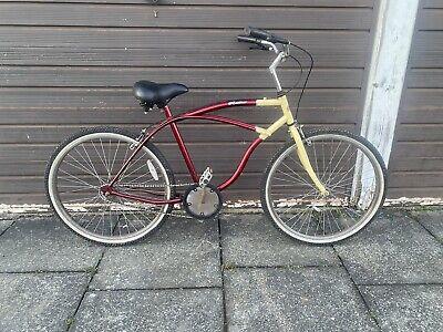 "Beach cruiser Retro bike original parts 26"" wheels white wall tyres unisex"