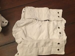 Set of 5 cloth bamboo diapers