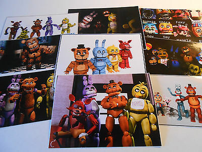 9 Five Nights At Freddys Inspired Stickers Birthday Party Favors Decals Fnaf