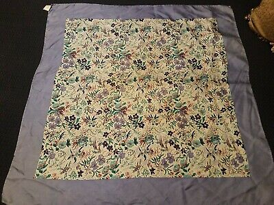 Vintage Scarf Styles -1920s to 1960s Vintage Liberty Of London Bright Fancy 100% Silk Scarf Made in italy $15.00 AT vintagedancer.com