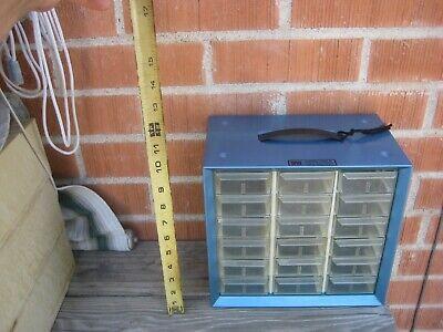 1960s Vintage 18 Drawer Akro-mils Metal Hardware Cabinet Organizer Storage Usa