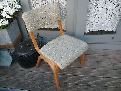 Vintage retro Wooden bent ply LAMSTAK childs chair Mid Century Modern