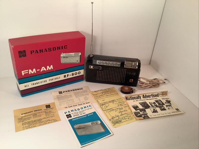 VINTAGE PANASONIC AM-FM Model #RF-800 Portable Radio JAPAN  Original Owner!*