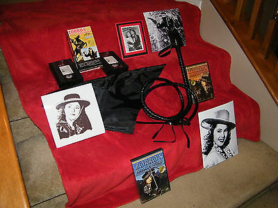 Zorro's Black Whip Autograph (Linda Sterling) + Prop Whip/Mask & Videos