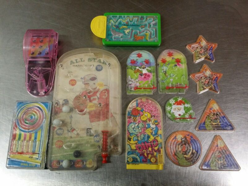 Lot of Hand Held Marble Pinball & Maze Games, Scooby Doo Star Shooters Dino Jam+
