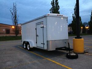 16'x7' enclosed trailer w/ rare 7' height