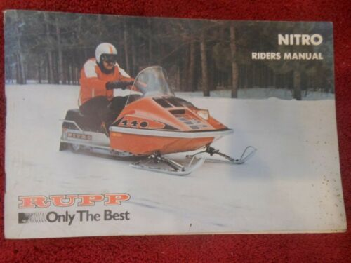 1977 Rupp NITRO LIQUID COOLED Owners Manual Vintage Snowmobile