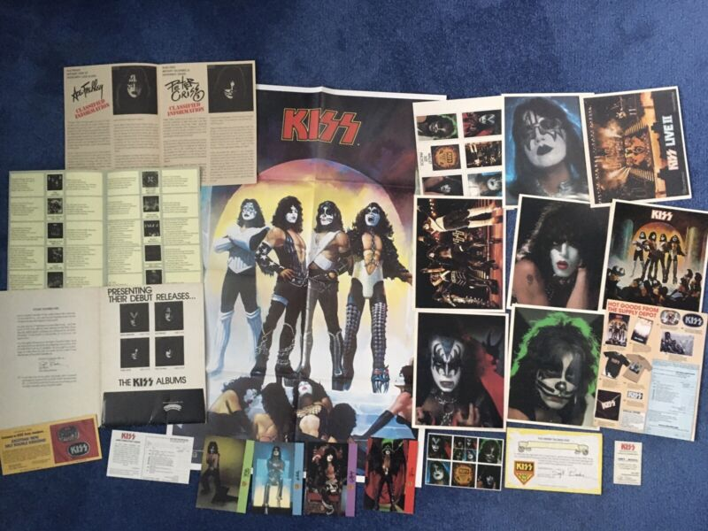 🔥Vintage KISS ARMY KIT SOLO ALBUMS '78 + EXTRAS Lot Of 22 AUCOIN BOUTWELL RARE!