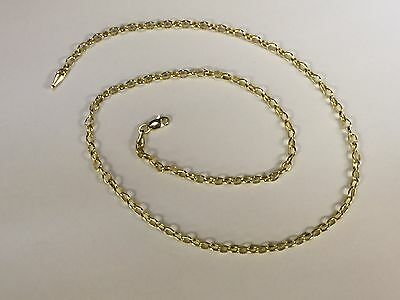 14k Gold Round Cable ROLO Link Pendant Chain/Necklace 18