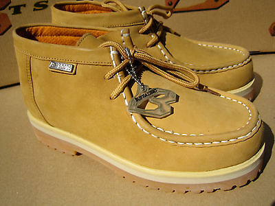 New Buffalino Men Leather Boots Size 7.5 Color Wheat