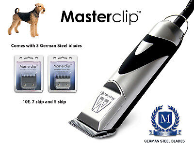 Airedale Dog Clippers Set fits Oster & Andis blades by Masterclip Professional
