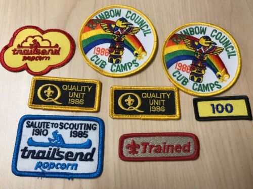 Unused Vintage boy scout cub scout council and leadership badge lot excellent