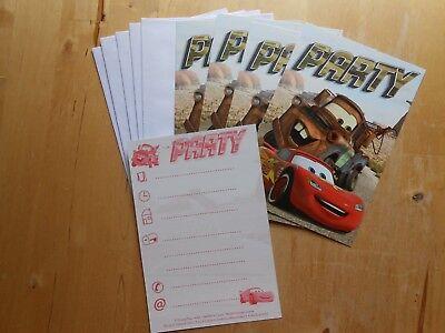 ungskarten mit Umschlägen Party Geburtstag  #2 (Cars Einladungen)