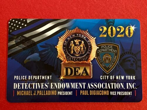 "2020 NYPD DEA ""Signed"" DETECTIVE CARD ""100% AUTHENTIC"" NEVER USED"