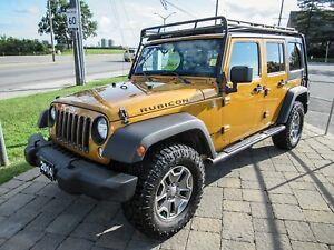 2014 Jeep Wrangler UNLIMITED RUBICON, AUTO, LEATHER *ORANGE!*