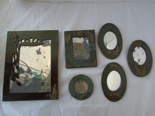 Vintage Enrique Zavala Bronze/Brass Mixed Metals Mirror Metal Art Frames Lot